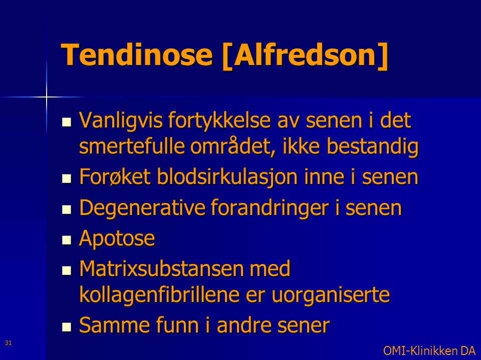 Tendinose [Alfredson]